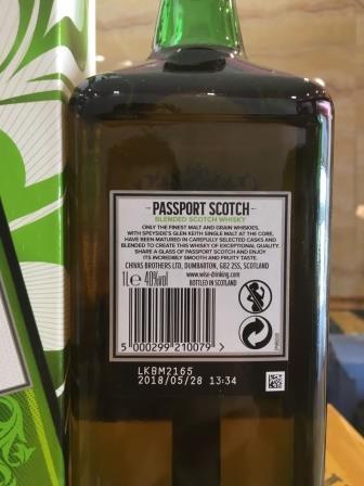 tem ruou passport scotch 1 lit