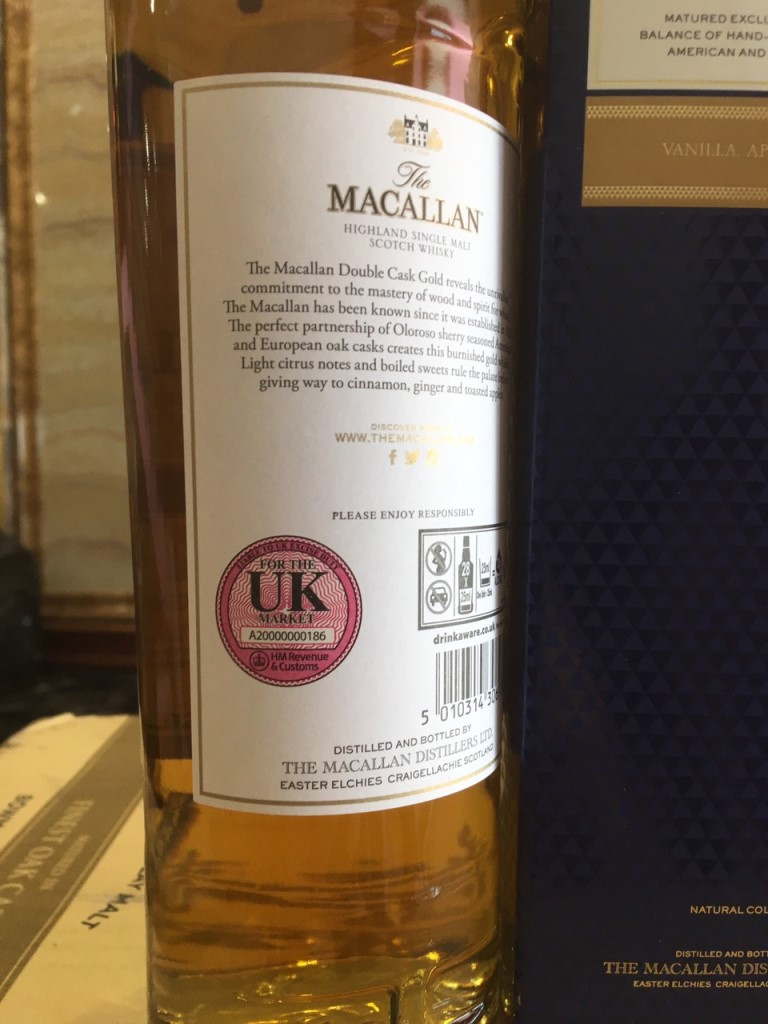 Macallan Gold Double Cask 3