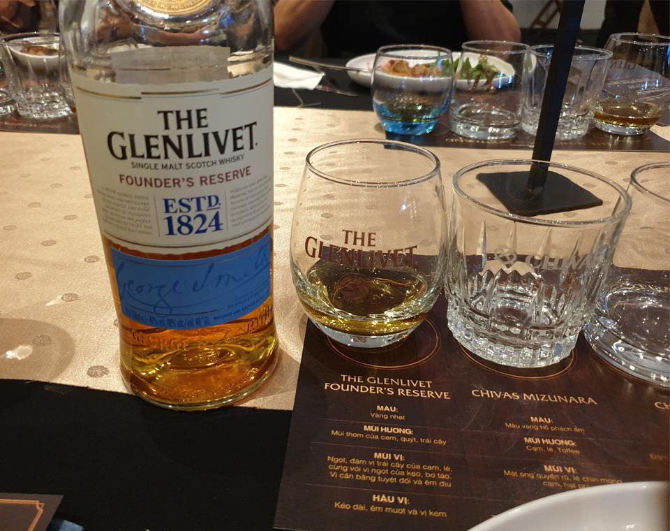 Tiệc ra mắt dòng rượuGlenlivet Founder's Reserve tại Sài Gòn