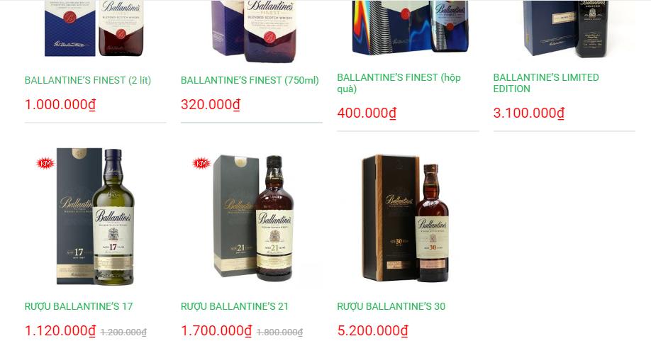 cac mau ruou Ballantine duoc Thegioiwhisky cung cap 2