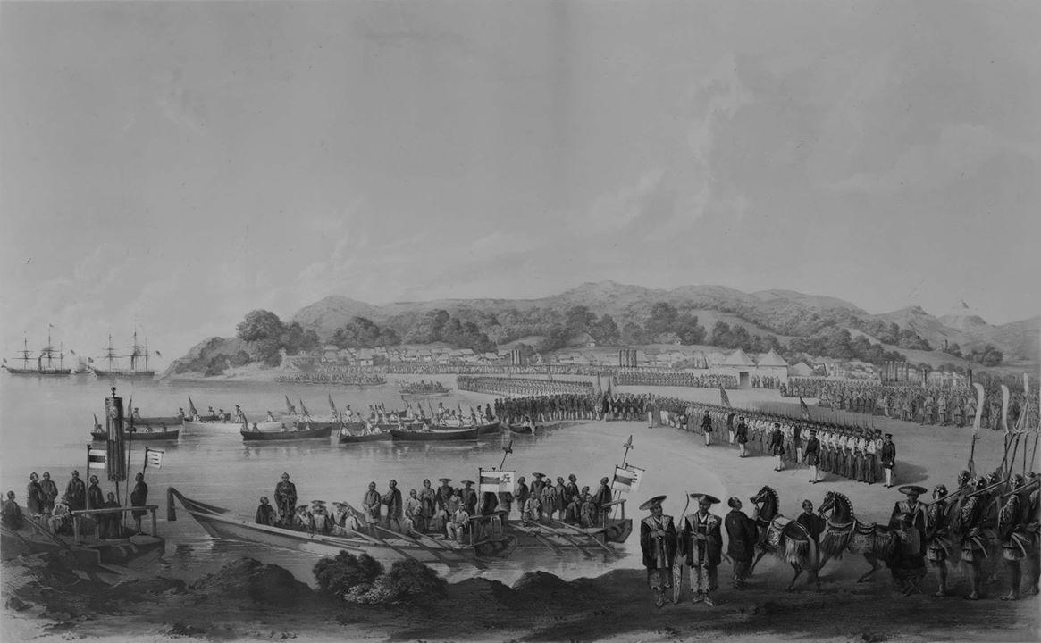 doan thuyen cua Matthew Perry tai vinh Tokyo nam 1853
