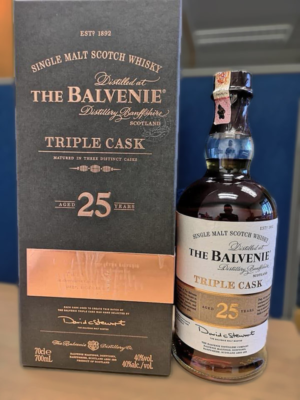 The Balvenie 25 nam triple cask